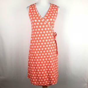 Synergy Coral Lotus Wrap Dress
